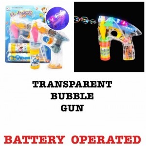 Bubble Gun Machine with 2 Refill Bottle Battery Operated Bubble Machine for Part..
