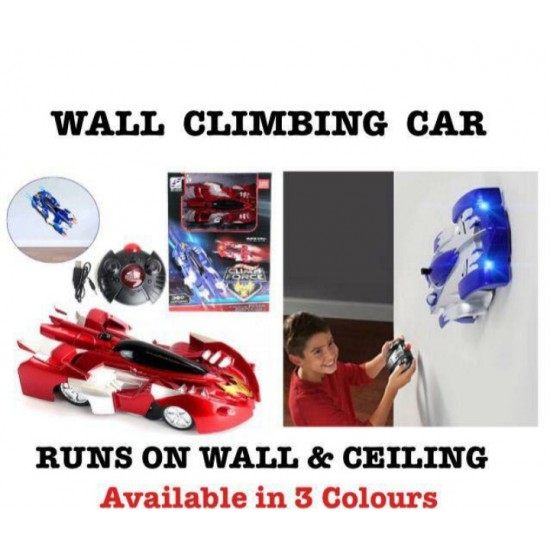 Gravity Defying RC Car Wall Climbing Remote Control Anti Ceiling Racing Toy, Dual Mode 360° Rotating LED Head RC Stunt Car