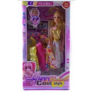 Happy Modern Cool Style Doll for Kids Age 3+ Multi Colour