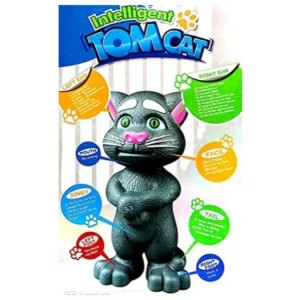 Talking Tom Toys for Kids Speaking Intelligent Robot Cat, Repeats What You say, Recording, Story Telling, Rhymes and Songs, Talking Toys for Kids (3+ yr) (Multicolor)