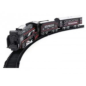Black Battery Operated Train Toy Set for Kids